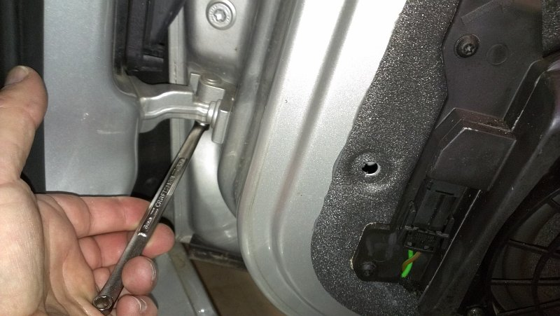Porsche Boxster - Removing Hing Lock Bolt