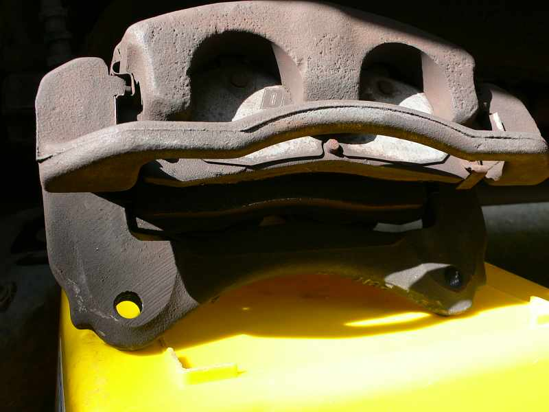Closer View of Explorer Brake Caliper