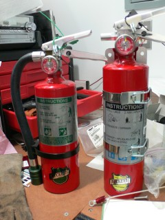 Halotron vs Dry Chemical Fire Extinguishers