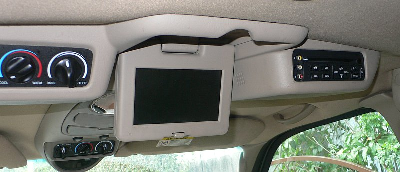 Ford Excursion DVD Overhead Console