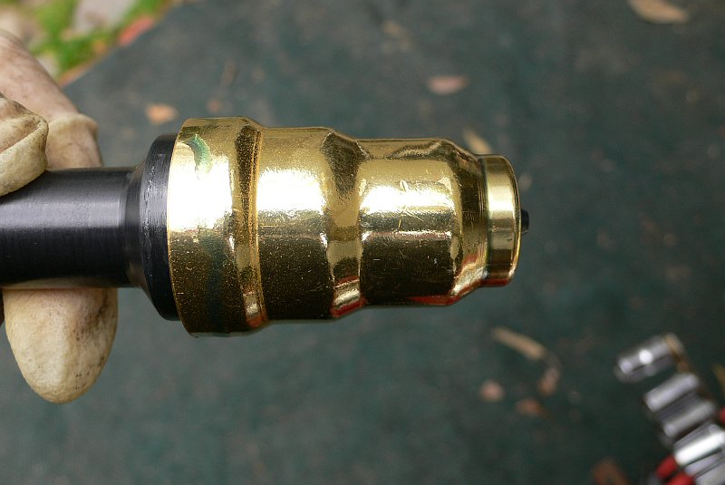 Place new injector cup on tool