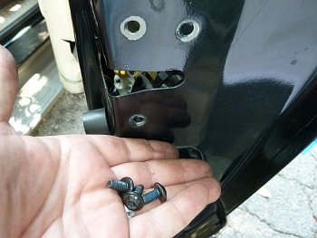 Remove Torx Bolts Holding Latch