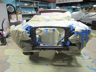 Fastback Mustang - Masking for Paint