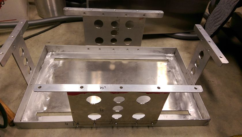 Aluminum Fuel Cell Mount Completed