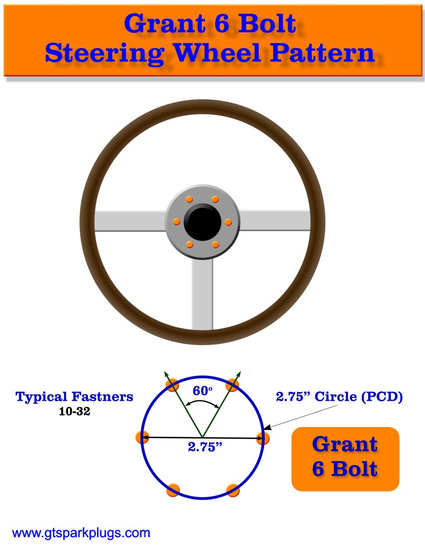 Grant 6 Bolt Adapter Bolt Pattern